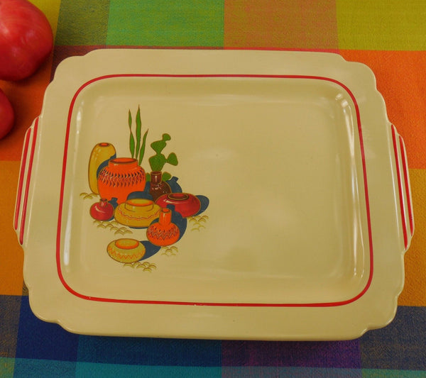 Homer Laughlin China Mexicana Serving Platter Tableware - Southwestern Cactus Pottery