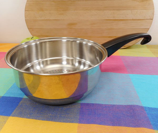 "Seal-O-Matic Stainless 8"" Steamer Insert for Saucepans - Hook Handle"
