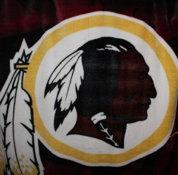 "Plush Washington Redskins Blanket Large 62"" X 82"""