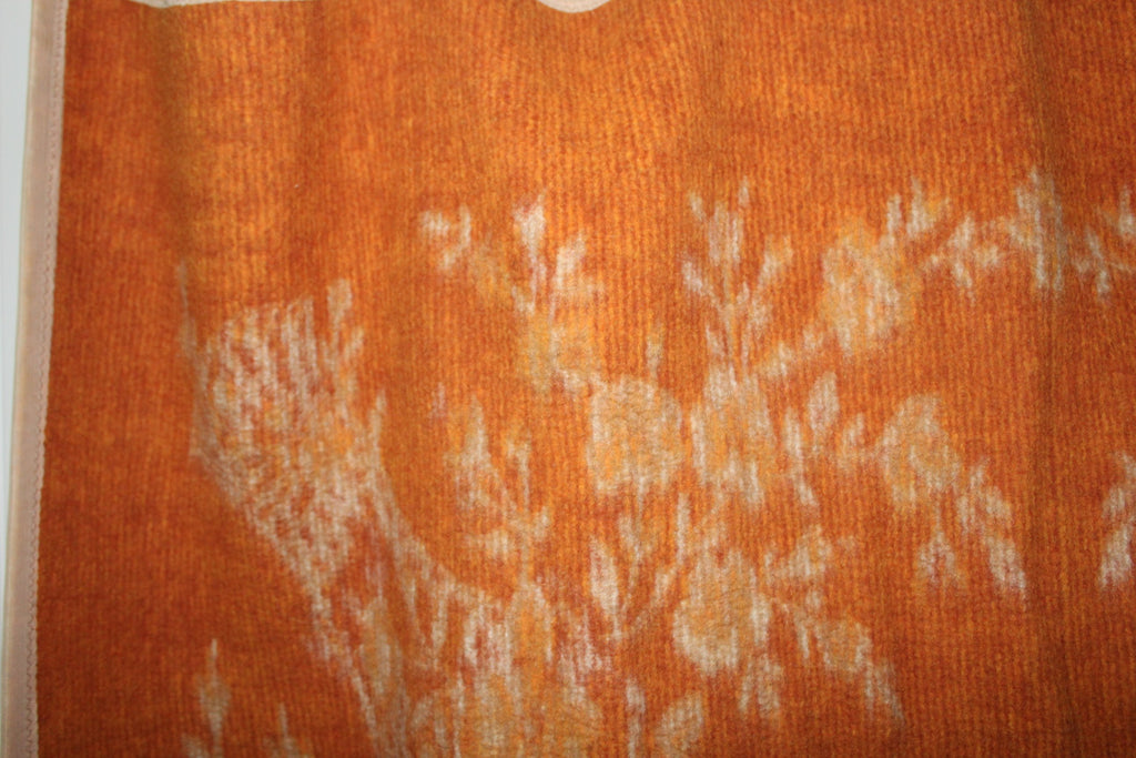 "Heavy Travel Rug Blanket Reversible Oranges Beige 56"" X 80"" Weight 5 lbs unusual"