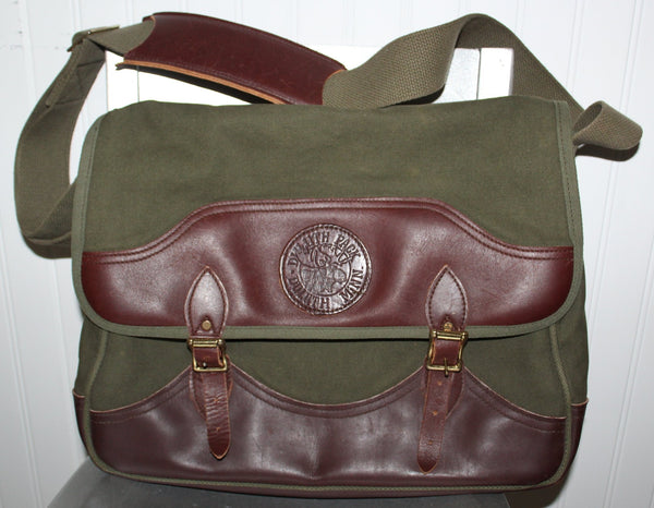 "Duluth Pack Laptop Briefcase Messenger Canvas Leather 16"" x 11"" x 4"""