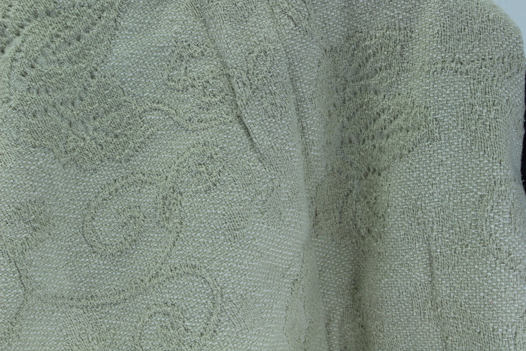 Charter Club Coverlet Bedspread 100% Cotton Woven Vines Pattern Wash Dry