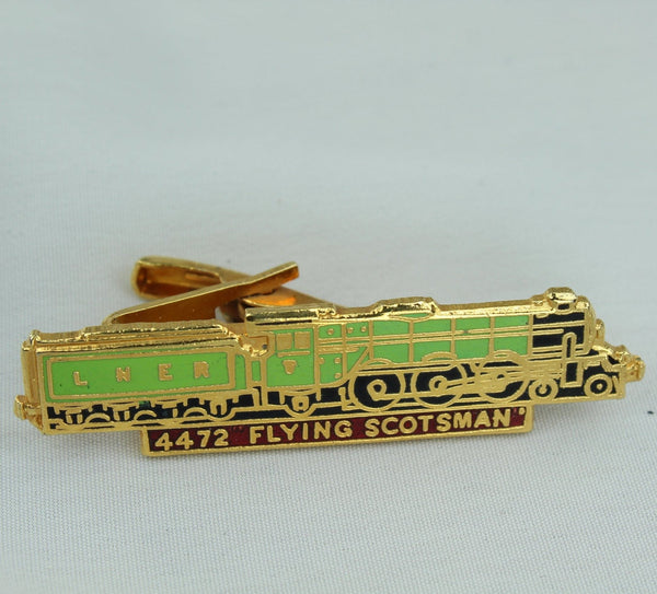 FLYING SCOTSMAN 4472 Tie Bar Vintage Enamel Nice