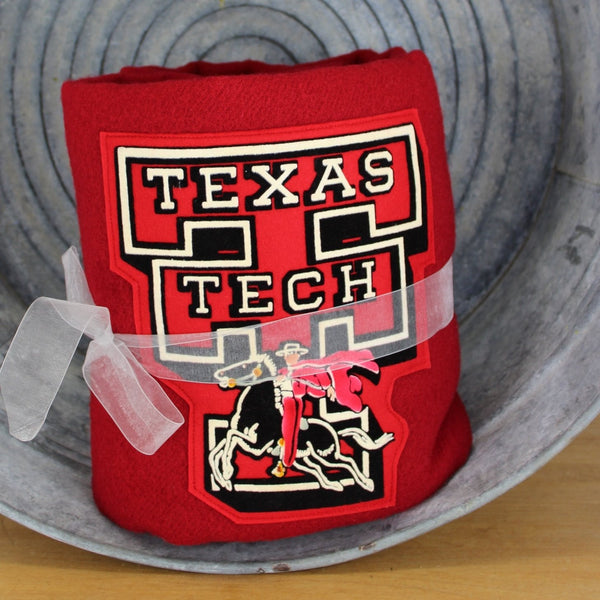 wonderful pendleton vintage texas tech stadium blanket felt logo horse