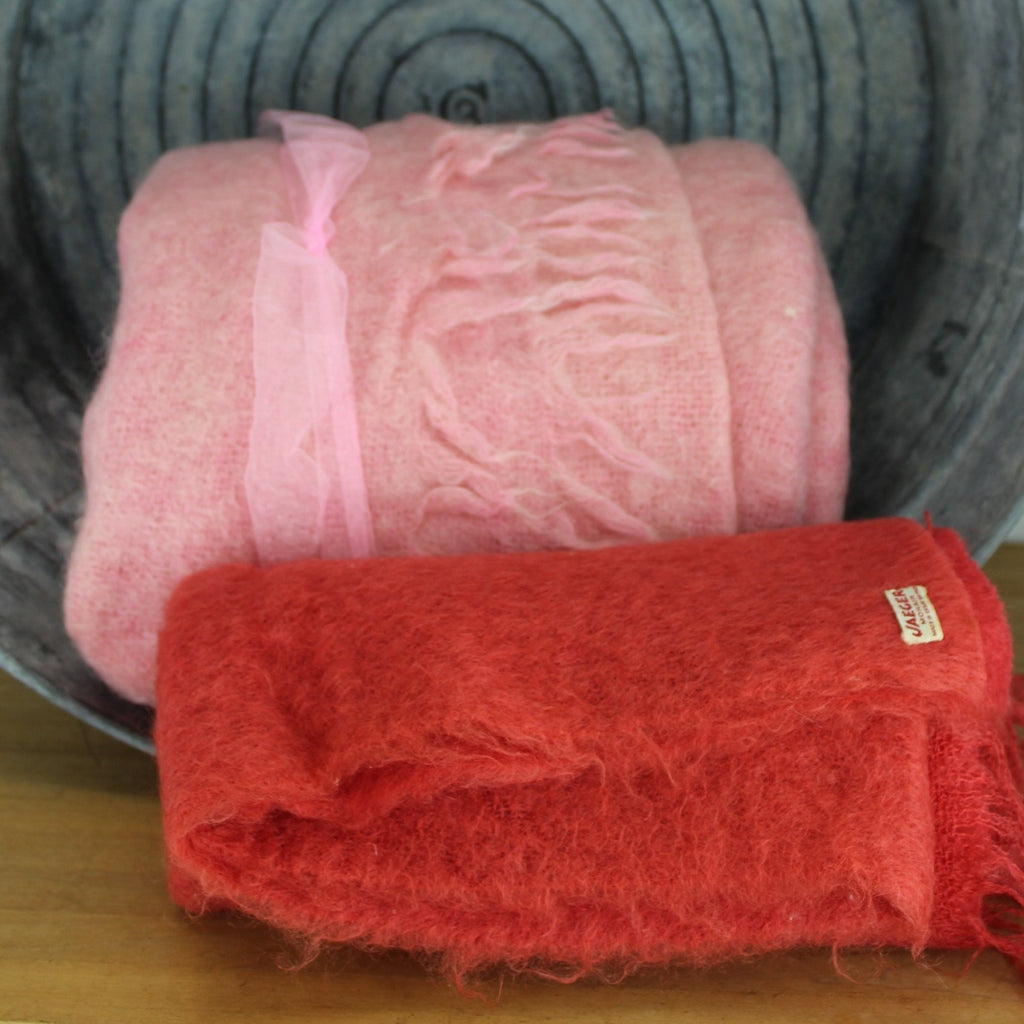 2 pieces mohair fabric for DIY projects Jaeger