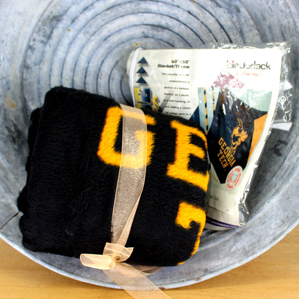 georgia tech throw blanket sweater knit orig labels