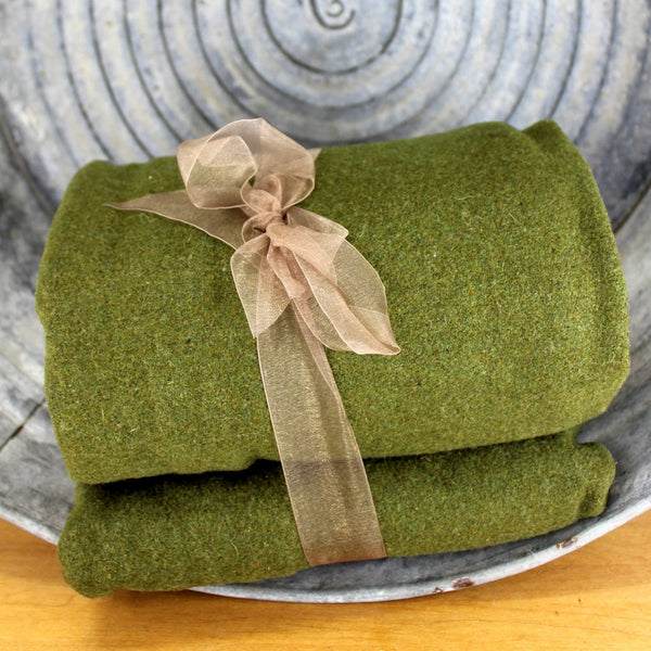 army green military style blanket vintage used