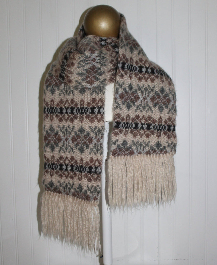 "Acrylic Double Scarf Aris Nordic Sweater Knit 7"" X 60"" Wash Dry"