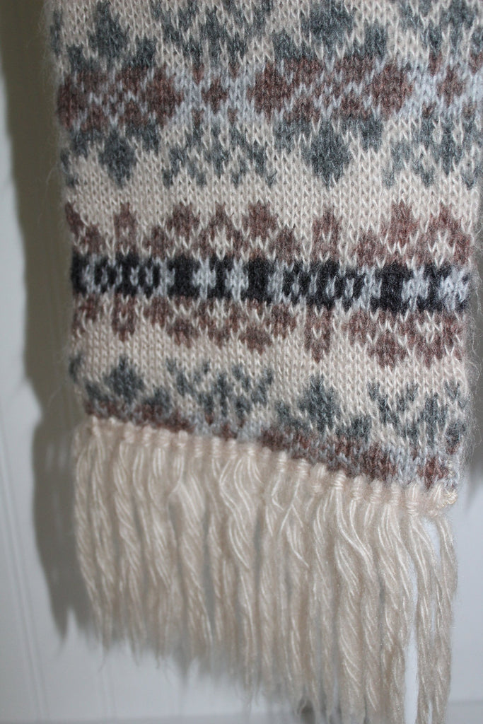 "Acrylic Double Scarf Aris Nordic Sweater Knit 7"" X 60"" Wash Dry soft"