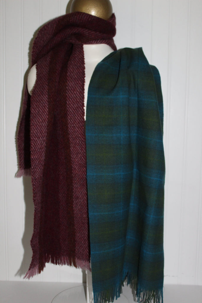 Lot 3 Scarves Wool DIY Craft Pendleton Dunlop Cashmere Kincora Ireland craft wool