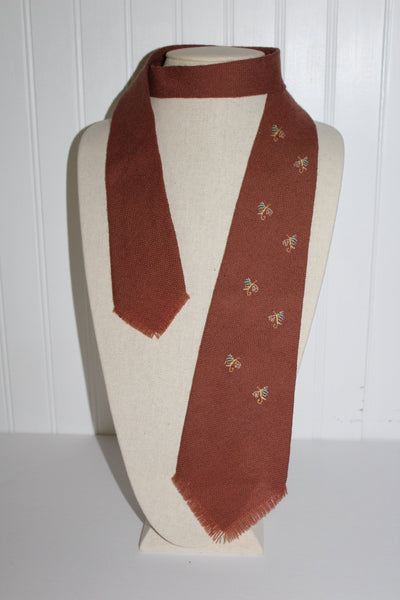 Vintage TEWA Necktie Tie Fly Design Indian Hand Loomed 100% Wool