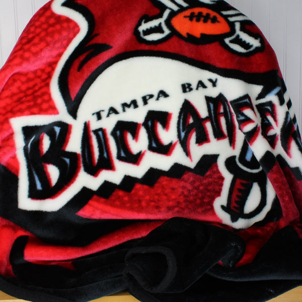 Northwest Polyester Plush Blanket - Tampa Bay Bucs Logo Throw - Vibrant