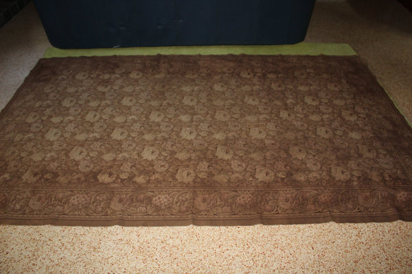"Antique Huge Tapestry 8' X 4'10"" Muted Browns Floral Eclectic Decor Wall Blanket Cover Area Rug"