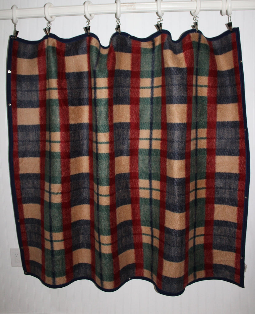 Biederlack Wearable Blanket Zipper Snaps Acrylic Poly Plaid Excellent fluffy