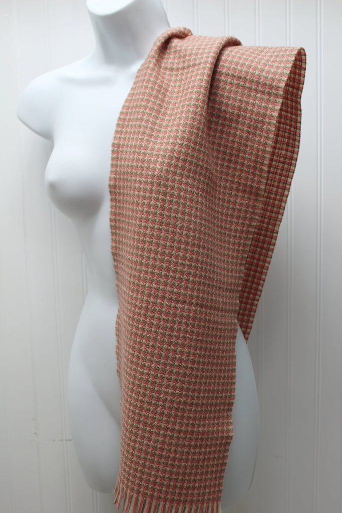 Woodleigh Merino Scarf Woodward & Lothrop Cocoa Rose Bone W Germany classical