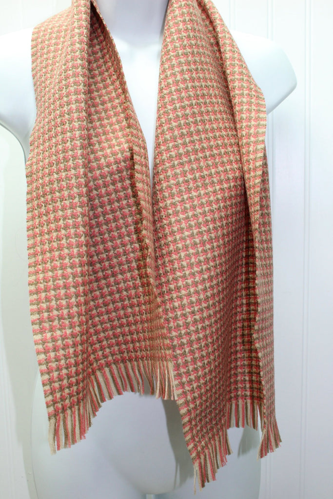 Woodleigh Merino Scarf Woodward & Lothrop Cocoa Rose Bone W Germany elegant