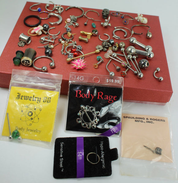 Collection Body Jewelry Lot Variety Pieces Some New package