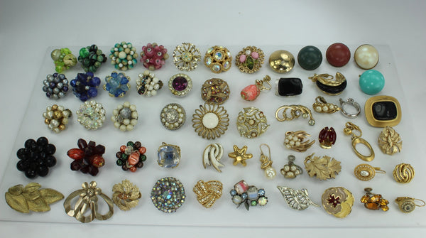 Earrings Designer Lot 54 Singles High Quality Lisner Weiss Coventry Clusters Crystal RS