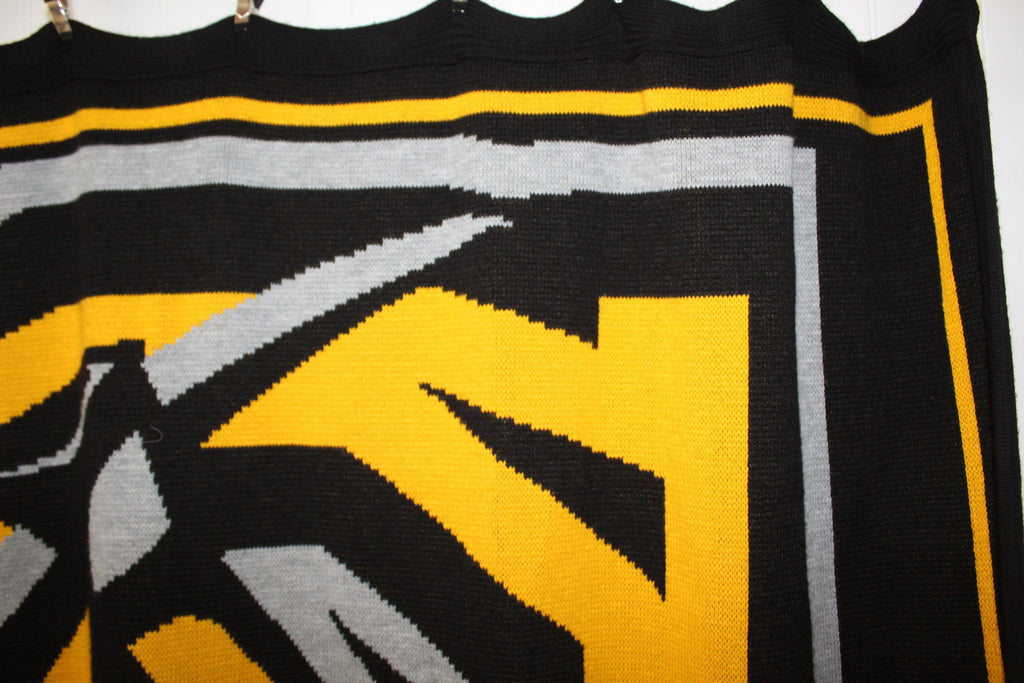 Cameron University Throw Blanket Vintage Acrylic Sweater Knit Aggies Logo soft