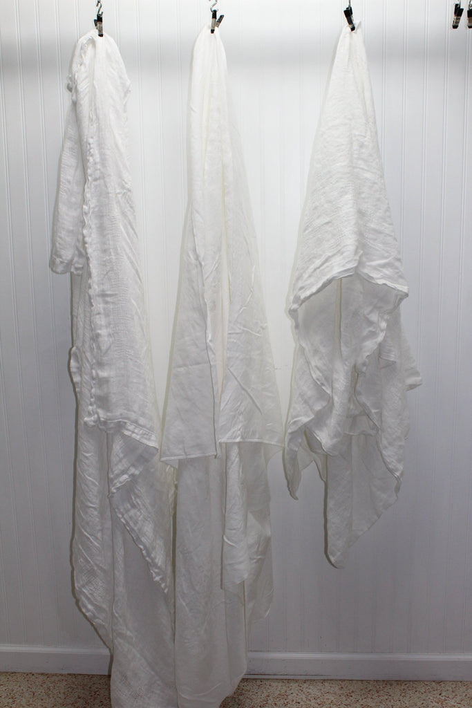 Lot 3 Cotton Tablecloths White Vintage Dining Use Craft Facemask Fabric Washable Sanitize face mask