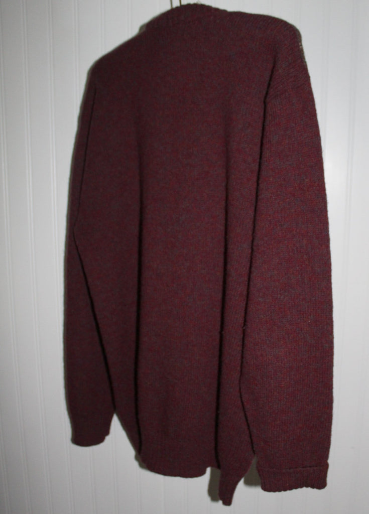 ST MICHAEL UK Sweater Pullover Jumper Maroon Argyle Pattern Size 42 Vintage soft