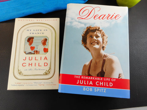 "Julia Child 2 Books... ""Dearie"" and ""My Life in France""... Clean Used"