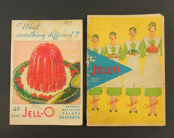 Two 1930s Recipe Booklets - Jell-O - Advertising
