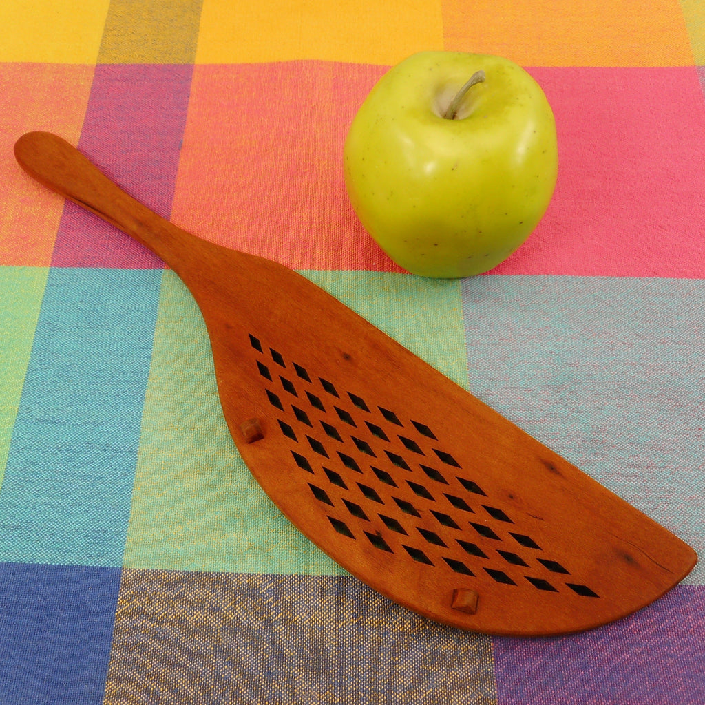 Jonathan Spoons Cherry Wood Pot Strainer Utensil