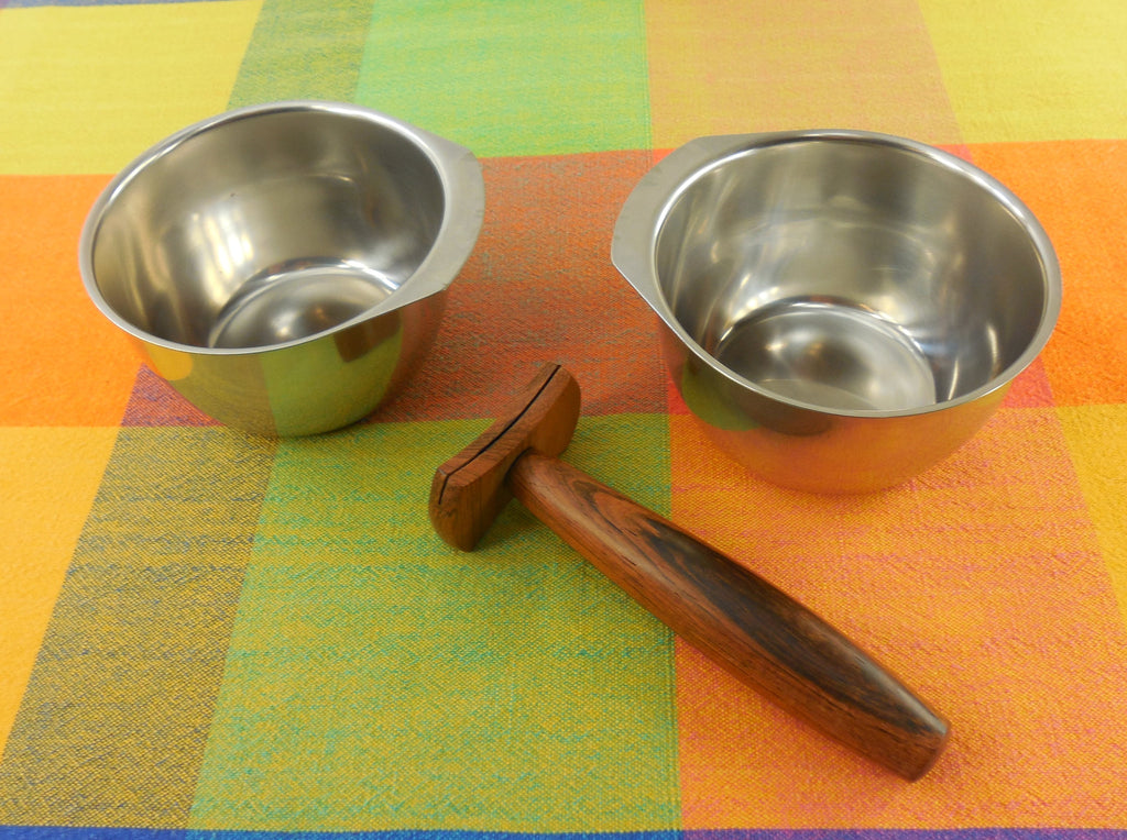 Vintage Kalmar Designs Denmark - Relish Jelly/Jam Condiment Dish Bowls & Ladle - Separated View