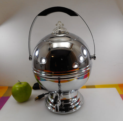 Labelle Silver Co. Chrome Art Deco Orb Ball Coffee Percolator Urn