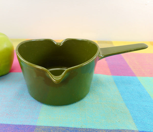 Copco Denmark Lax Design - Butter Warmer Saucepan Avocado Green Cast Iron