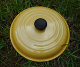 "Le Creuset France Yellow Enamel Cast Iron #30 Lid -12"" Lid Only (Braiser) Unused"