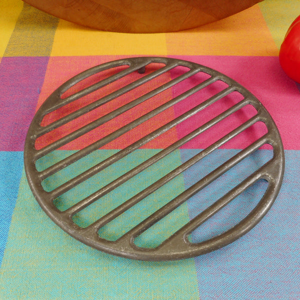 "L.E. Mason Boston MA USA 8"" Aluminum Broil Rack Trivet for Roaster Dutch Oven Pot"