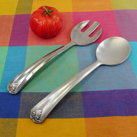 Lenox Aluminum Salad Server Set Fork Spoon 11""