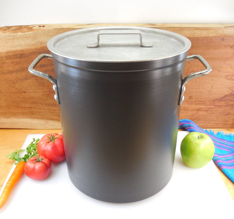 Leyse USA Hard Anodized 16 Quart Tall Stock Pot & Lid - Vintage NSF Commercial Cookware