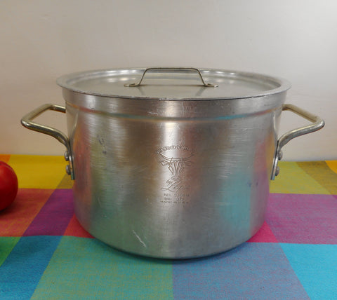 Leyse USA Aluminum 8-1/2 Quart Stock Pot & Lid - Vintage NSF Commercial Cookware 5308-1/2