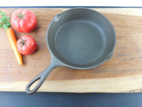 SOLD... Unmarked Lodge SK USA #5 Cast Iron Skillet Fry Pan - Cleaned & Ready To Season Vintage Cookware