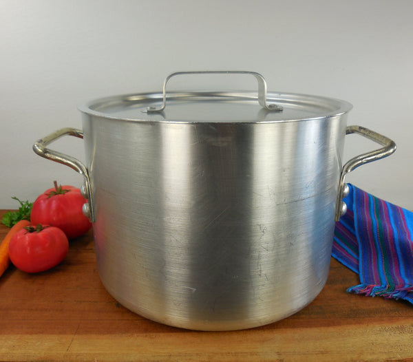 Enterprise Aluminum Co USA - Chef de Cuisine 8.5 Quart Aluminum Stock Pot -  Professional Quality