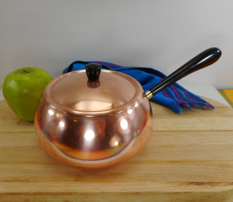 Metawa Holland Copper Tinned Fondue Pot Vintage
