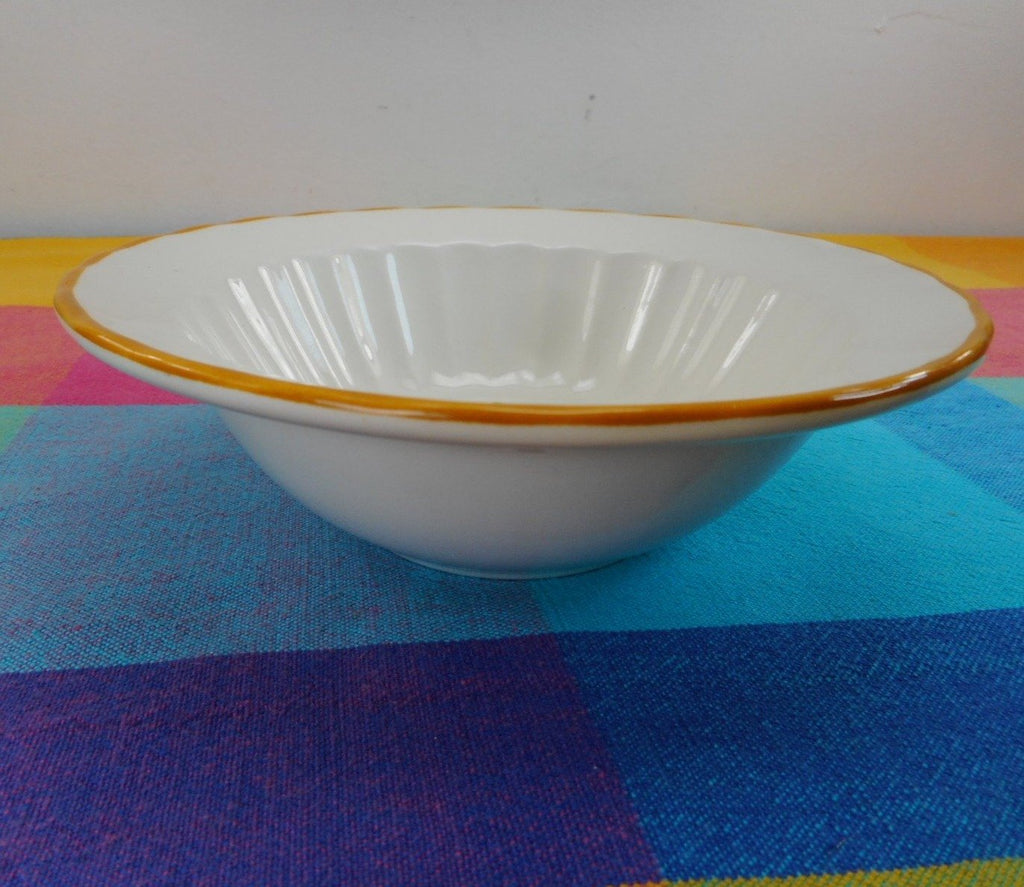 "Vernon Ware by Metlox California USA... NASTURTIUM Cereal Soup Bowl 6-7/8"" Vintage"