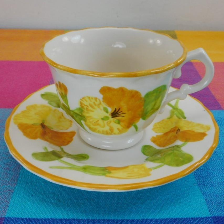 Vernon Ware by Metlox California USA... NASTURTIUM - Cup and Saucer Set