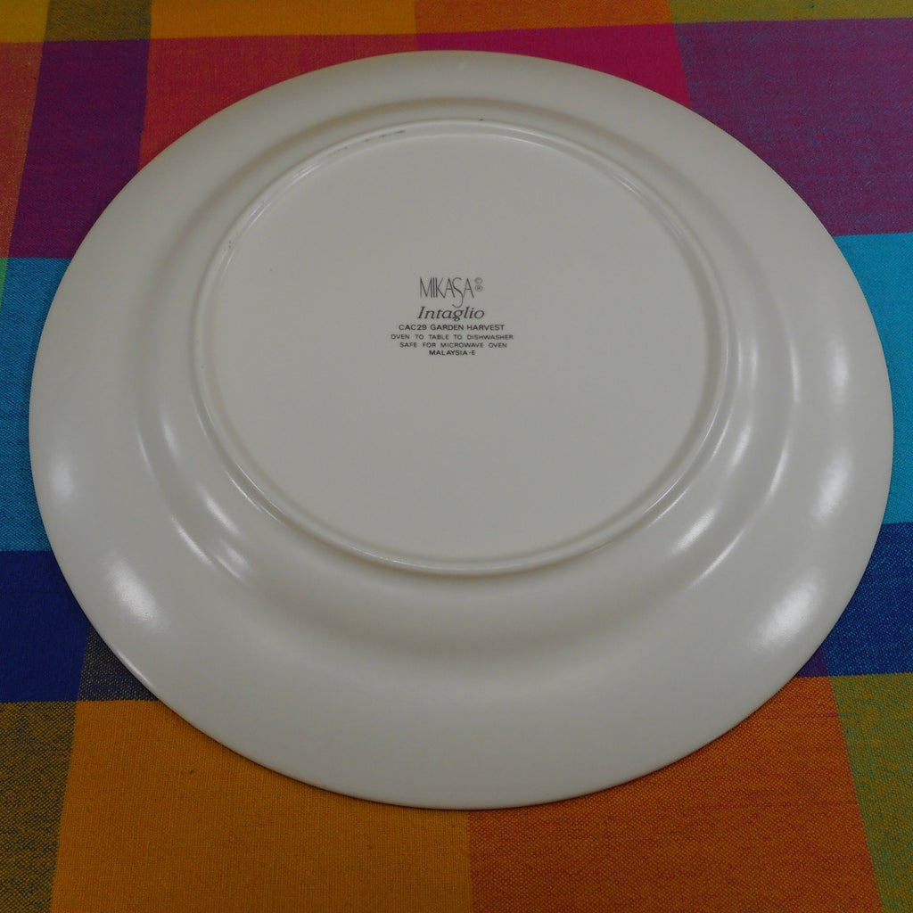 "Mikasa Intaglio Garden Harvest - 12-3/4"" Chop Plate Platter CAC29 Used"