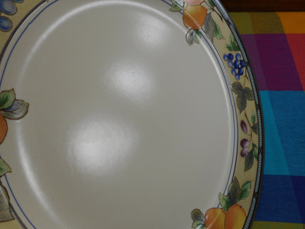 "Mikasa Intaglio Garden Harvest - 12-3/4"" Chop Plate Platter CAC29 Malaysia"