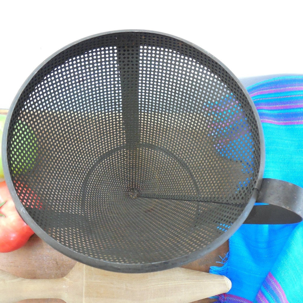 Old Steel Food Mill Cone Sieve Strainer And Pestle
