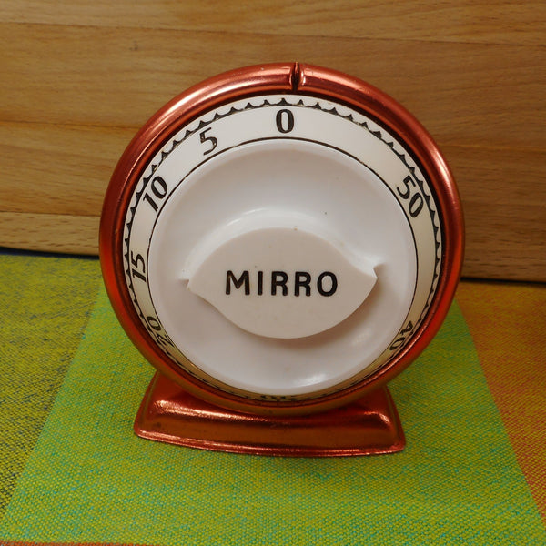 Mirro Robert Shaw Vintage Kitchen Mechanical 60 Minute Timer - Copper Anodized Color