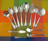 12 Piece Mismatched Serving Set - Shabby Cottage Elegant Floral Silverplate Flatware... Antique Silverware