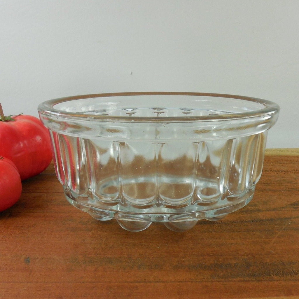 Vintage Depression Glass Clear Bubble Food Mold