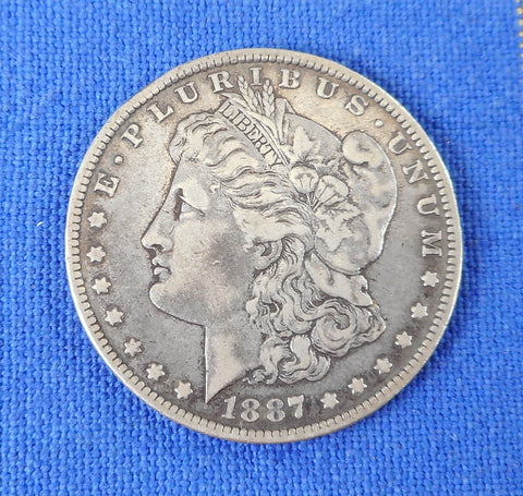 Morgan 1887 O New Orleans US Silver Dollar Coin