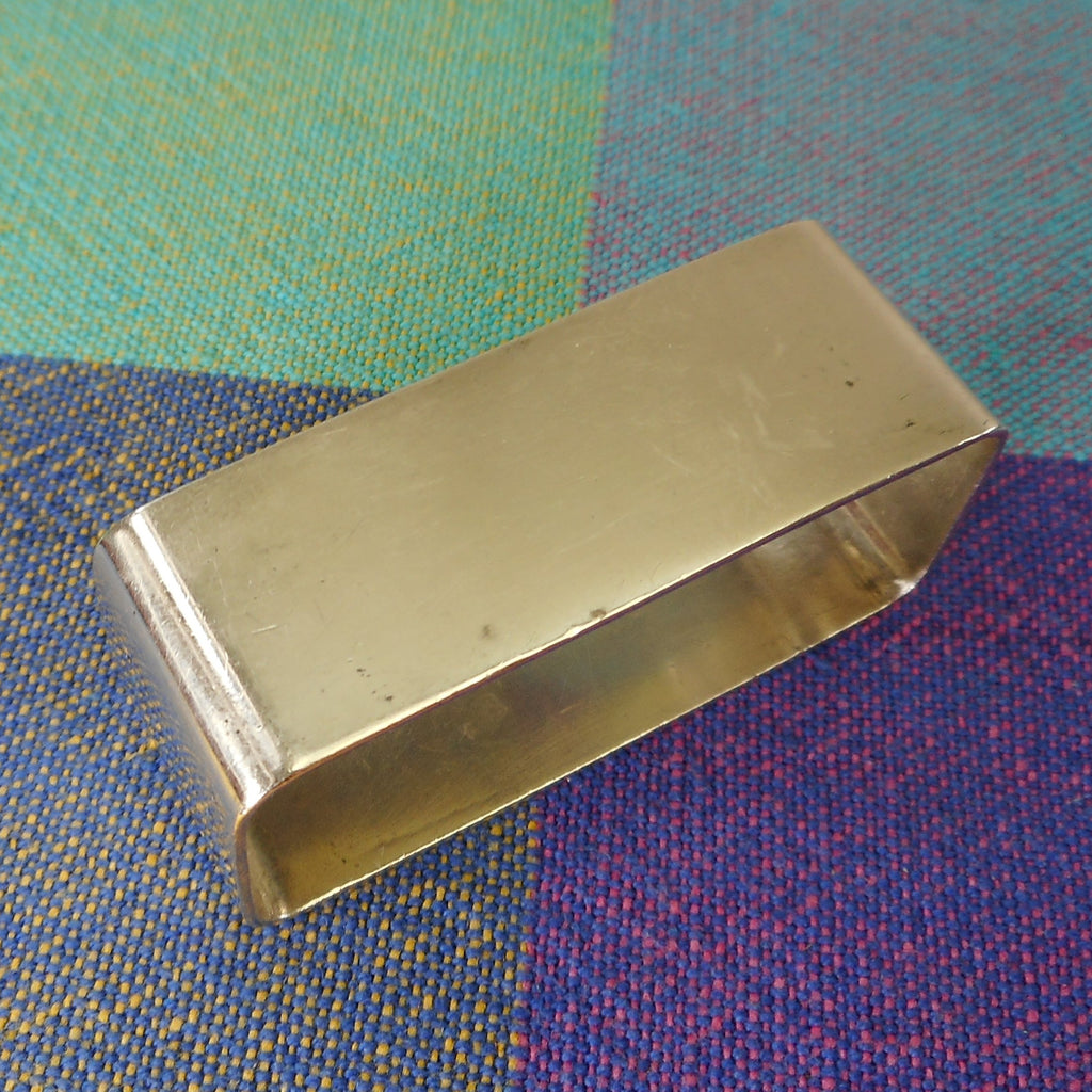 International Waltrous Sterling Silver Art Deco Napkin Holder Ring - Monogram J.M.P. Vintage