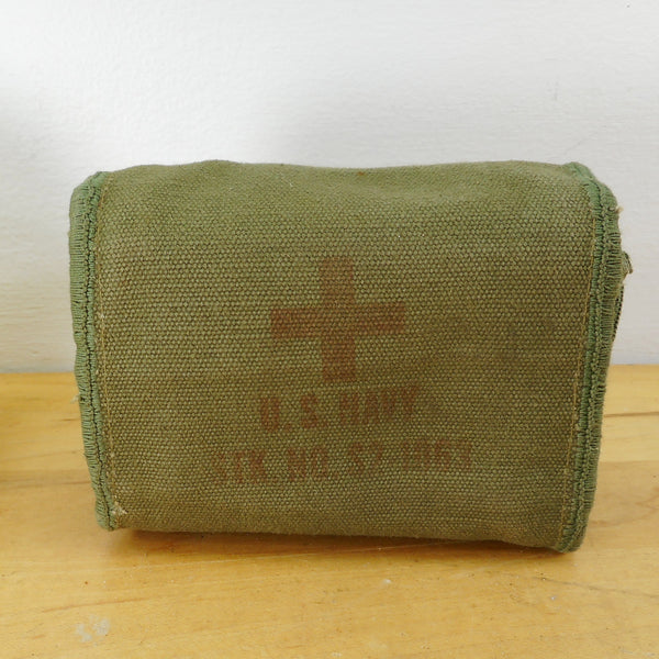 US Navy WWI Aviators Pilot First-Aid Canvas Pouch S2-1063